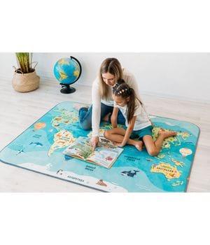 Детский игровой коврик Карта мира
