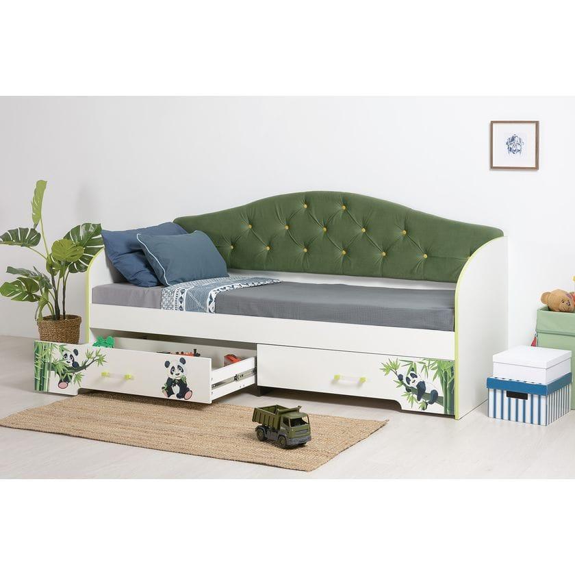 Детская кровать Панда грин