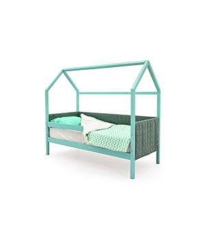 Кроватка домик мягкий с бортиком