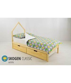 Детская кровать домик Мини Svogen Натура