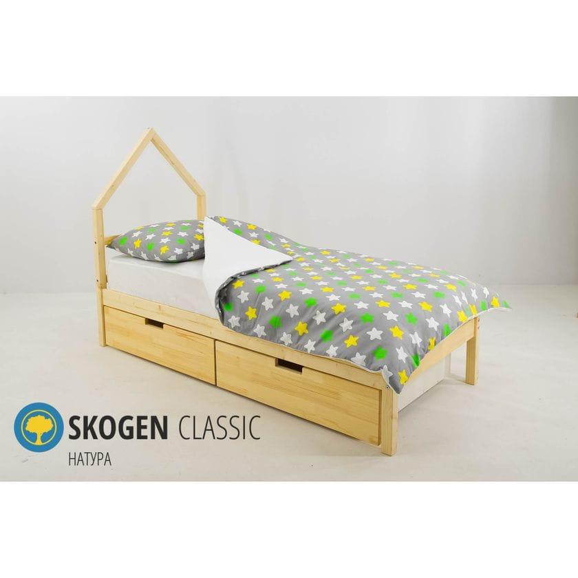 Детская кровать домик Мини Бельмарко Svogen Натура