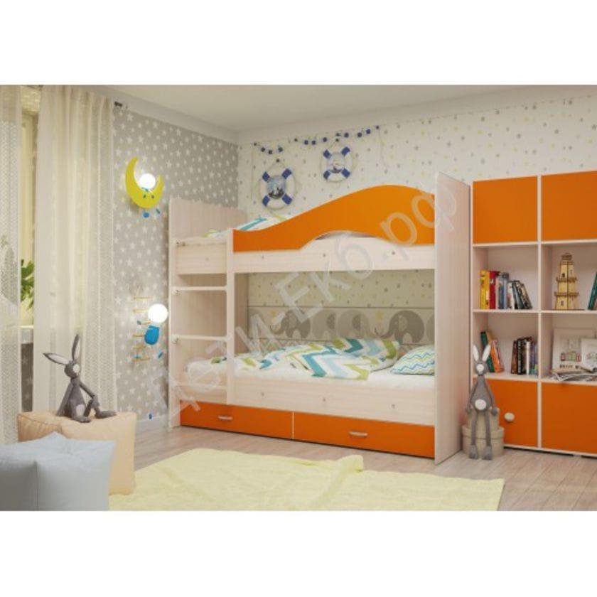 Двухъярусная кровать Мая Оранж