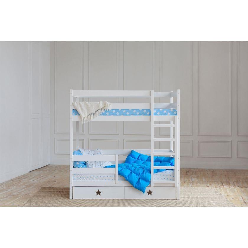Кровать двухъярусная из массива сосны