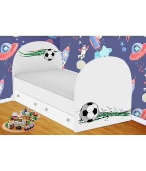 Детская кровать Футбол с ящиками