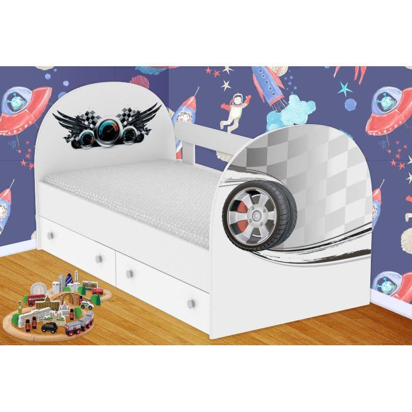 Детская кровать Гонки с ящиками