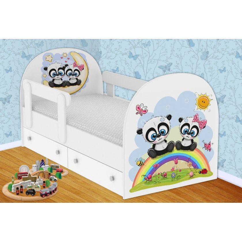 Детская кровать Панды с ящиками