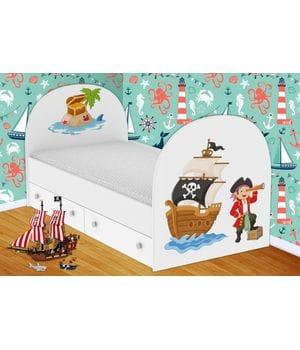 Детская кровать Пираты  с ящиками