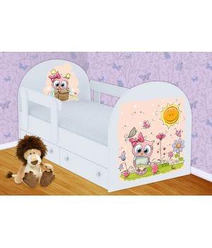 Детская кровать Совенок с ящиками