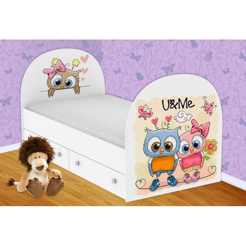 Детская кровать Совушки с ящиками