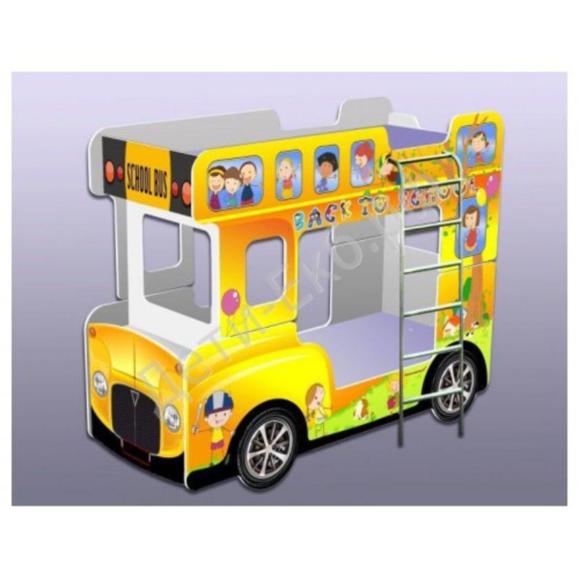Кровать-автобус  Желтый