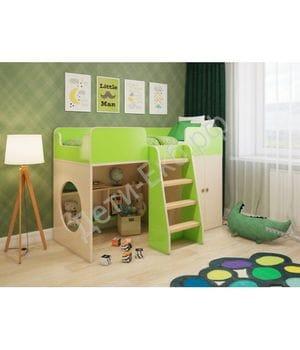 """Игровая кровать """"Зеленая"""""""
