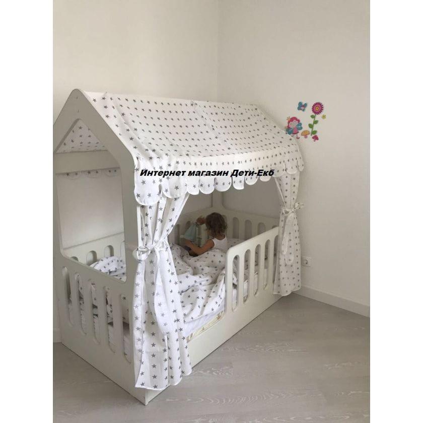 Детская кровать-домик белый