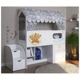 Кровать чердак Сказка с игровой зоной и шкафом