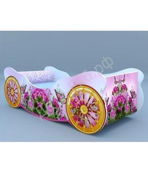 Кроватка-карета Розы с бабочкой
