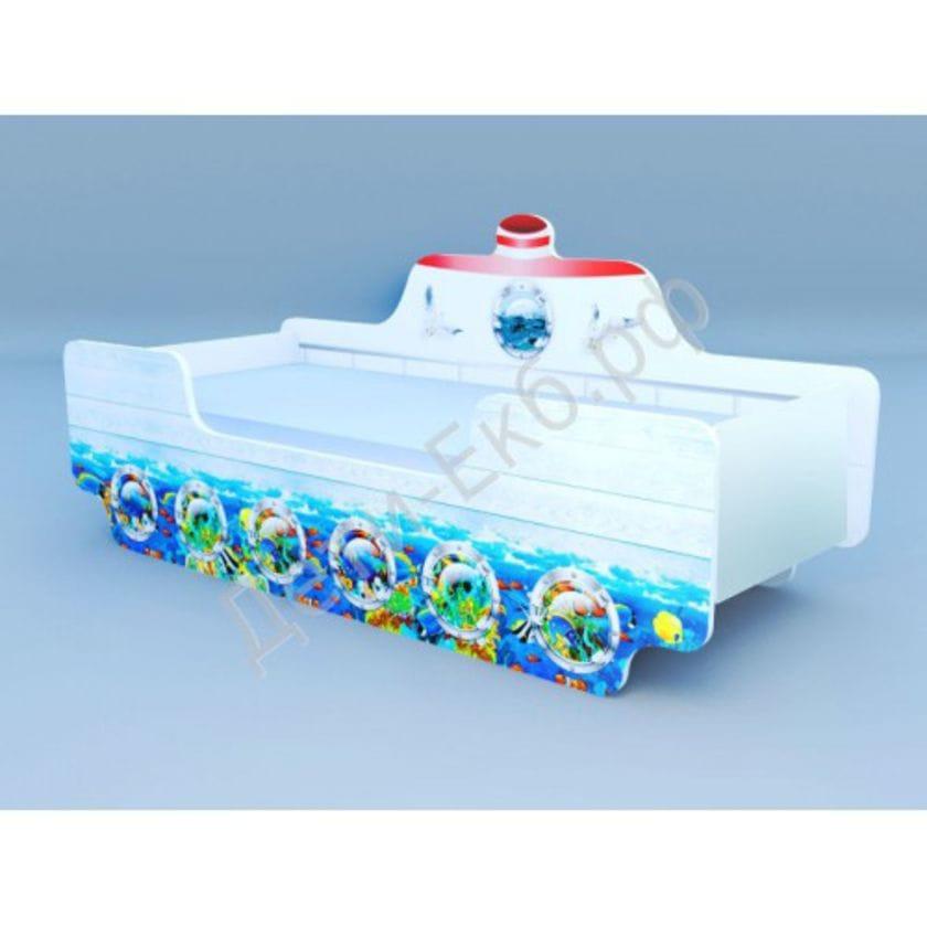 Кроватка Кораблик 1 Подводный Мир