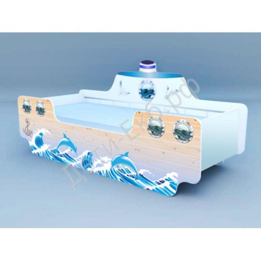 Кроватка Кораблик 2 Дельфины