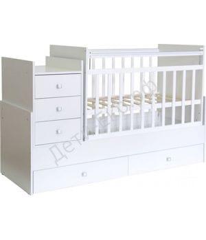 Кровать-трансформер детская ФЕЯ 1200 Белый