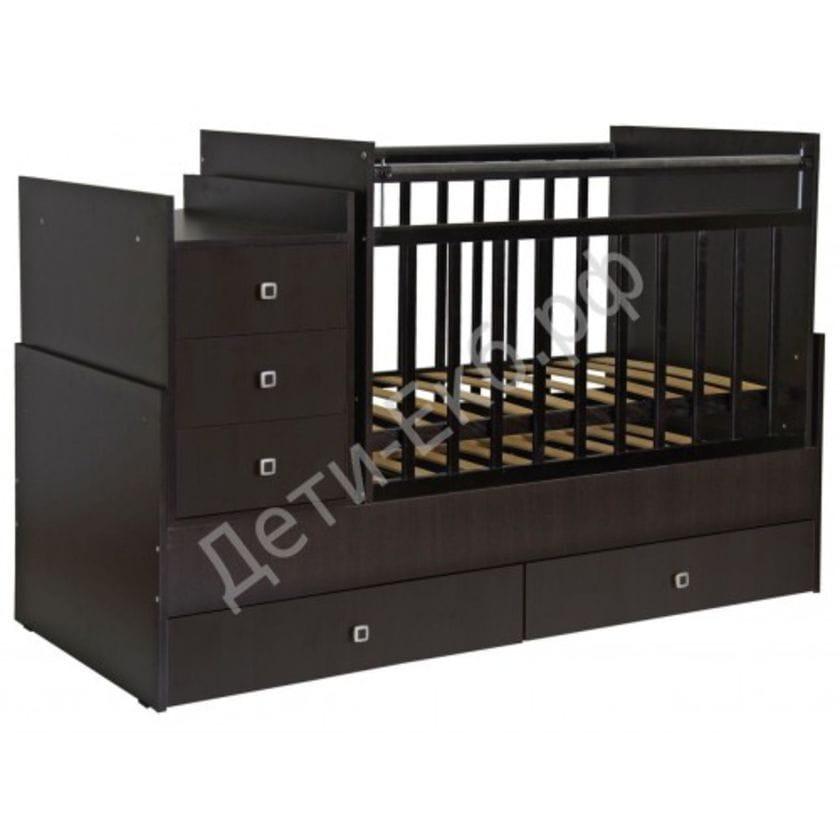 Кровать-трансформер детская ФЕЯ 1200 Венге