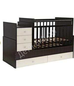 Кровать-трансформер детская ФЕЯ 1200 Венге-бежевый
