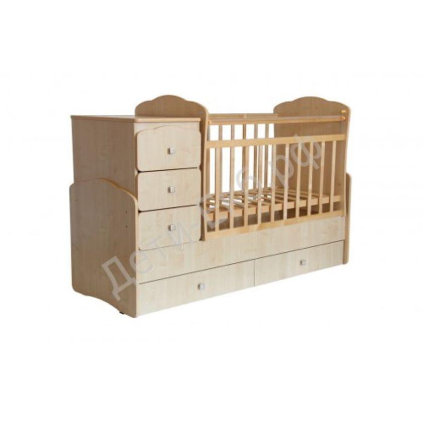 Кровать-трансформер детская ФЕЯ 2100 Клен
