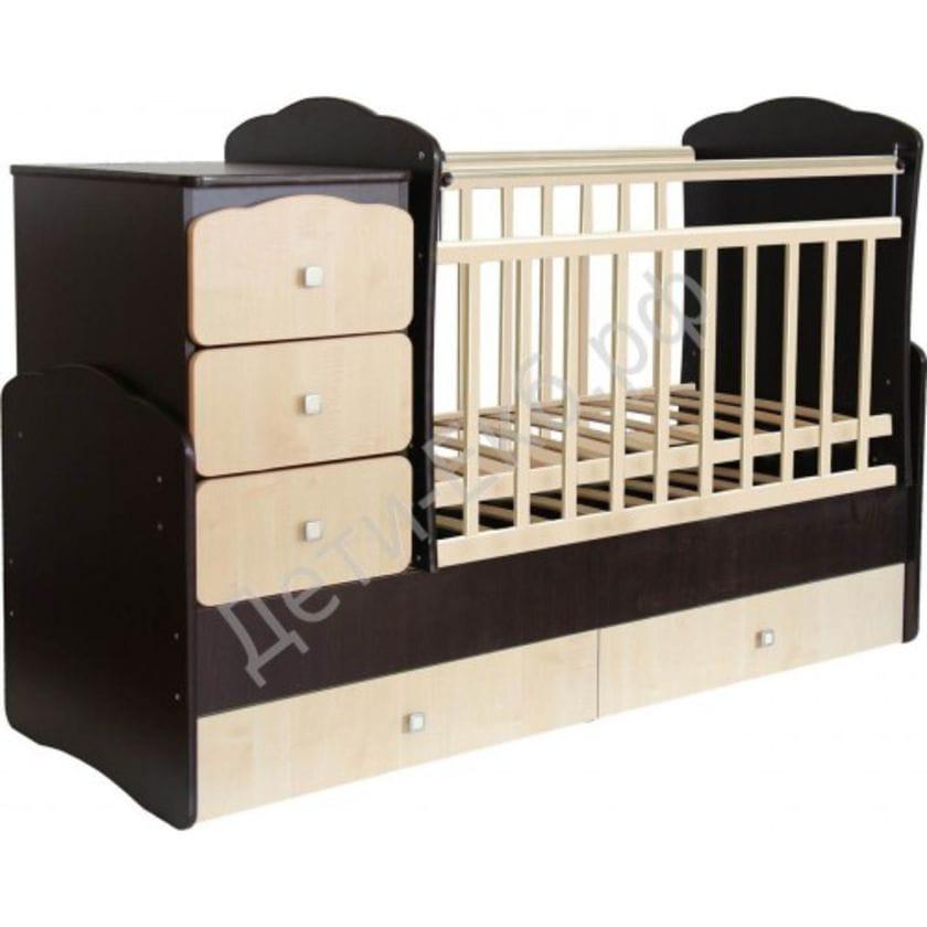 Кровать-трансформер детская ФЕЯ 2100 Венге-клен