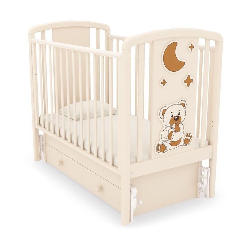 Кровать Жаклин (мишка с соской) с маятником