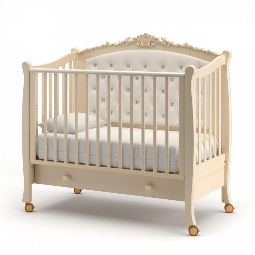 Кровать для новорожденных Жанетт new с ящиком