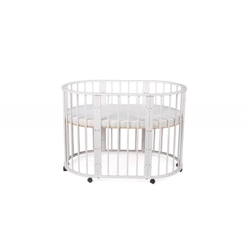 Кроватка для новорожденных трансформер Sleepy 8 в 1 с маятником Белый
