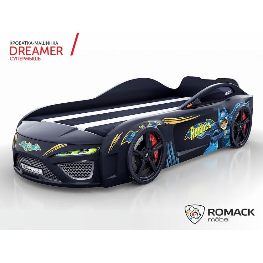 Кровать-машина Dreamer Бэтмэн Superbat black