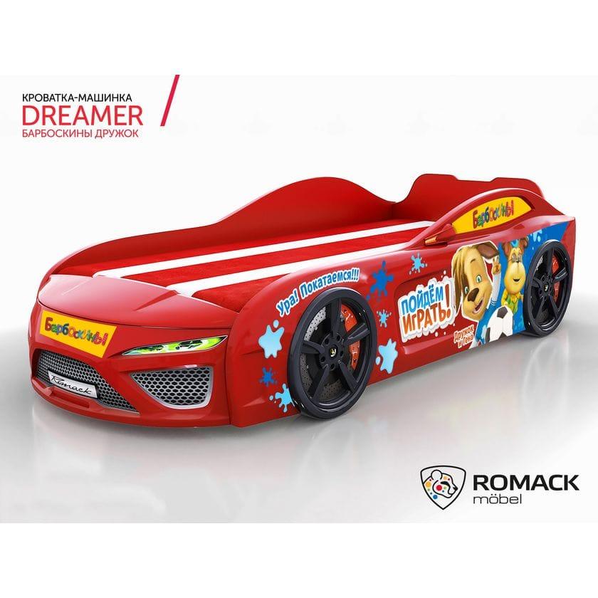 Кровать-машина Dreamer Барбоскины Дружок red
