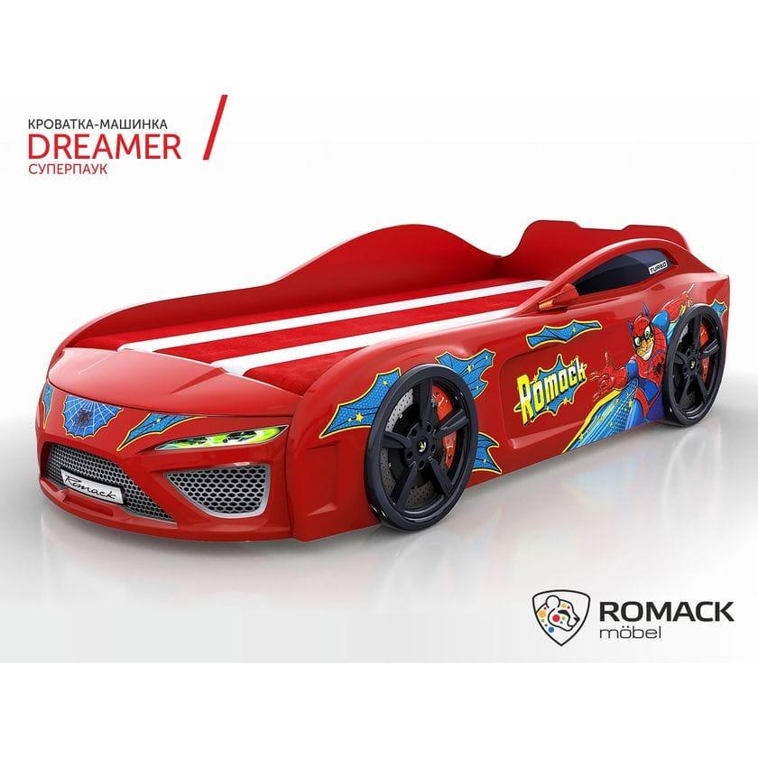 Кровать-машина Dreamer Человек паук красная