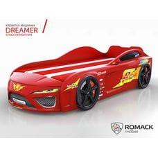 Кровать-машина Dreamer Молния Red