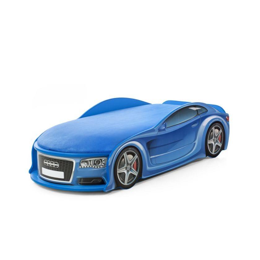 Детские кровать-машина ауди-а6 синяя