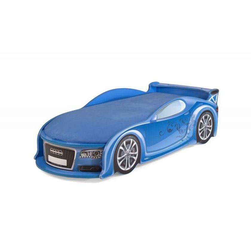 Детские кровать в форме машины ауди-а4 синяя
