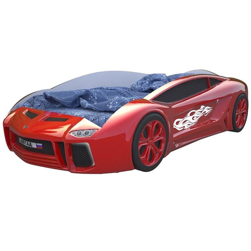 Кровать машина Ламба Next красная с подъемным механизмом