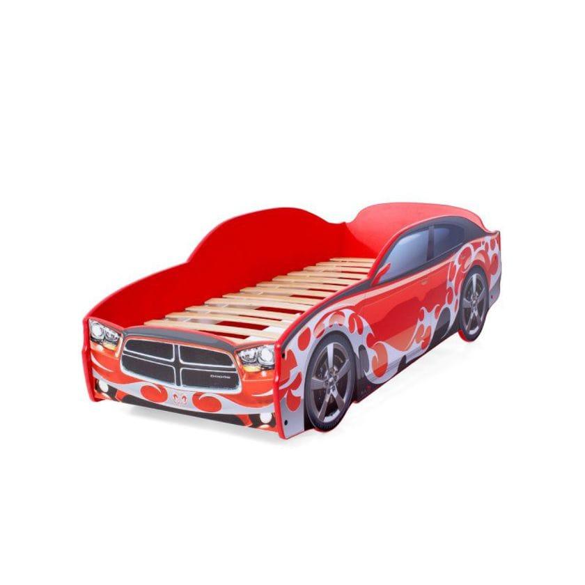 Кровать-машина Додж красный