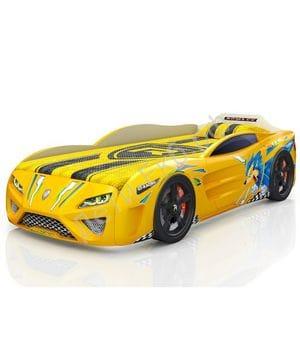 Кровать-машина Dreamer Ёжик жёлтая