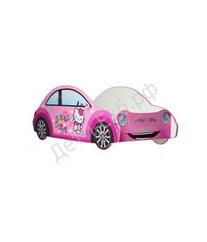 Кровать машина Hello Kitty для малыша