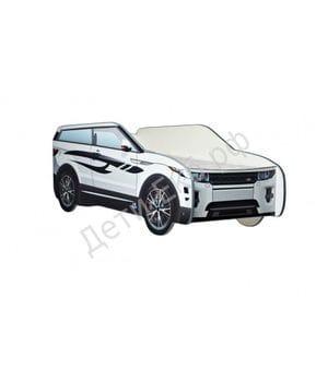 Кровать машина Land Rover джип белый