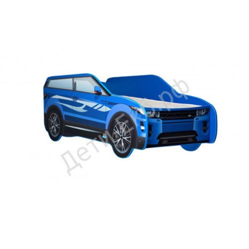 Кровать машина Land Rover джип синий