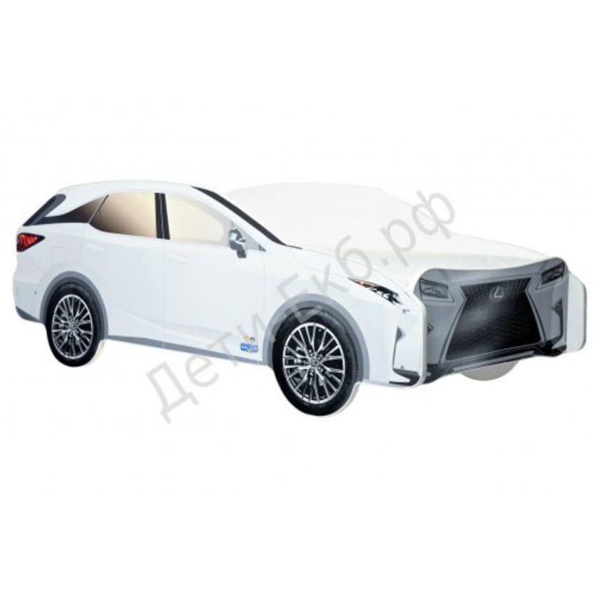 Кровать машина Lexus джип белый