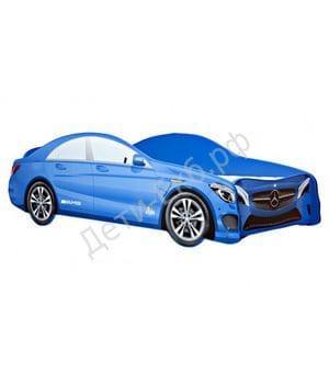 Кровать машинка Mercedes-Benz синий