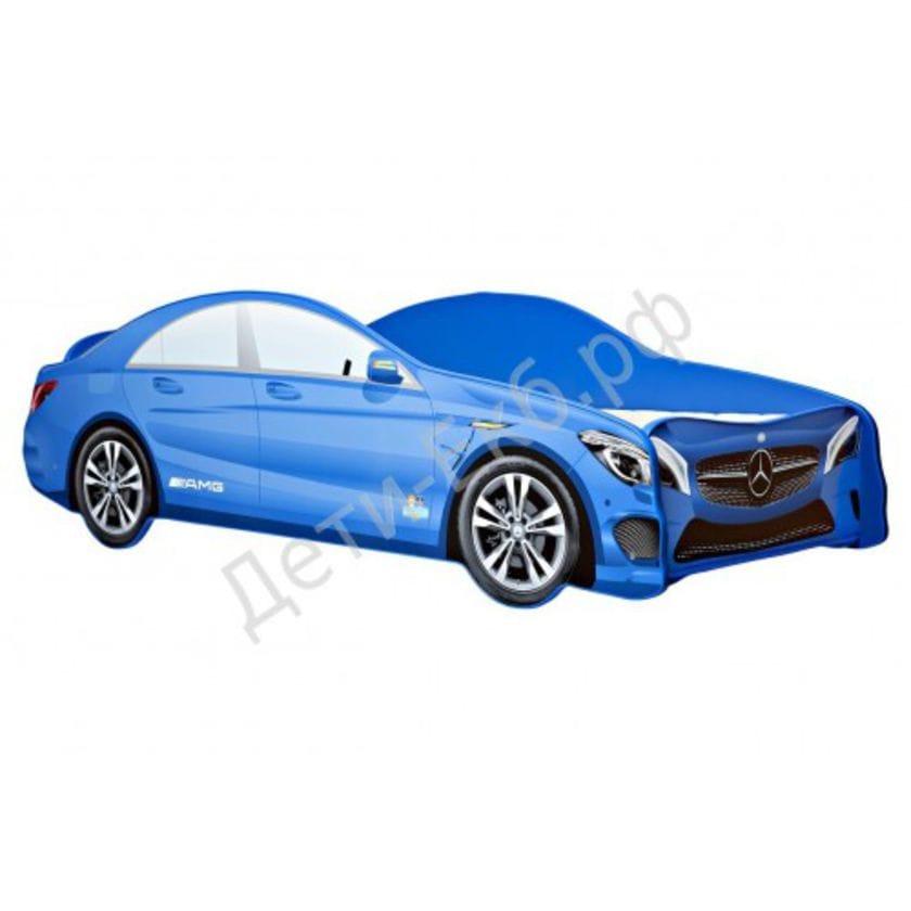 Кровать машина Mercedes-Benz синий