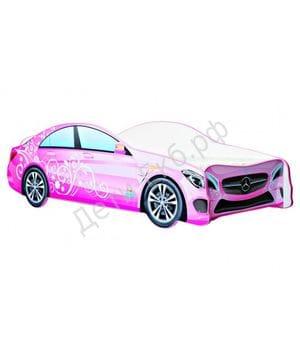 Кровать машинка Mercedes-Benz розовый
