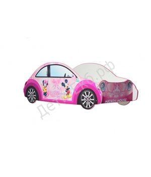 Кровать в виде машины Mickey Mouse Pink