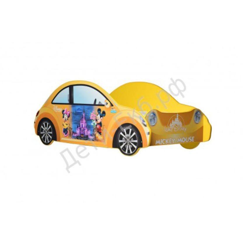 Кровать машина Mickey Mouse (желтый)