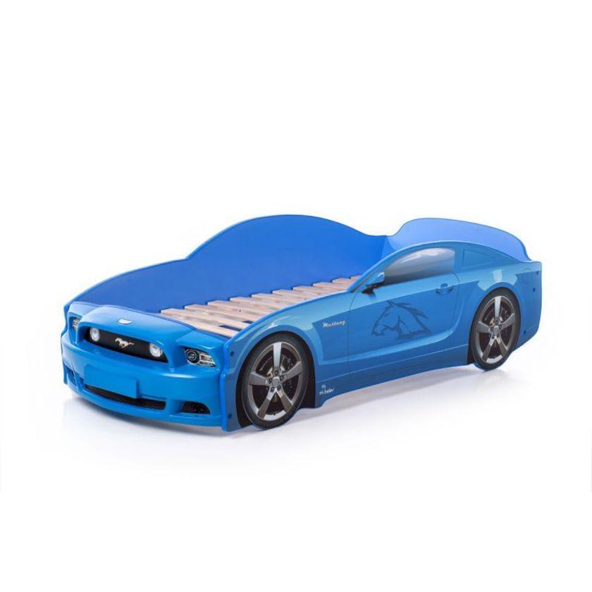 Кровать-машина Мустанг PLUS синий