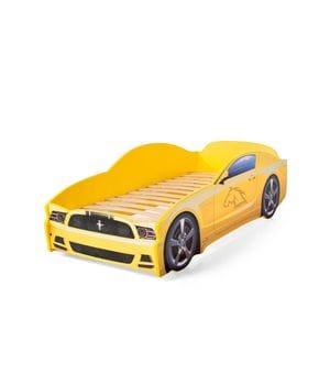 Кровать-машина Мустанг желтый