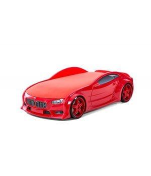 Кровать-машина объемная (3d) NEO БМВ красный