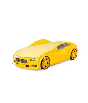 Кровать-машина объемная (3d) NEO БМВ желтый